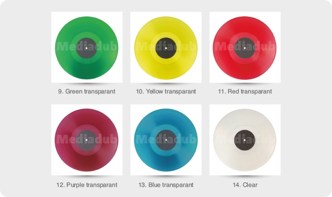 vinyl transparant colours